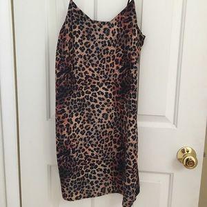 Collusion leopard print cami mini dress